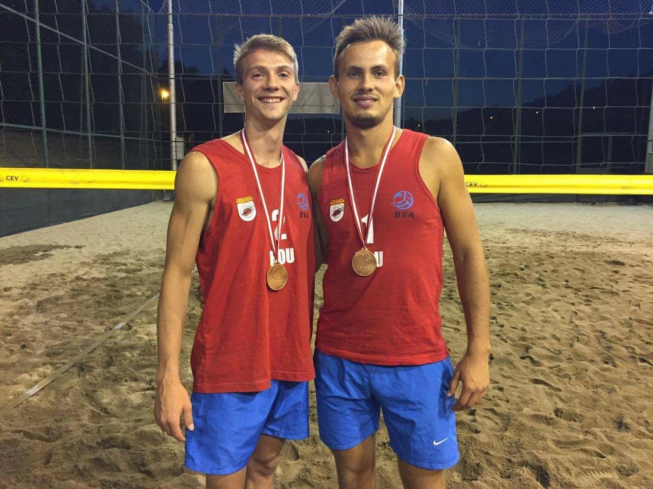 Medalie de bronz la Campionatul Balcanic Beach Volley U22 Macedonia